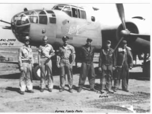 The B-25 LITTLE JOE #41-29998 was Shine's main Combat Ship, Shine and his Crew