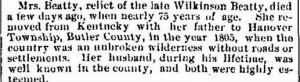 Sarah Beaty 1873 Death Notice.JPG