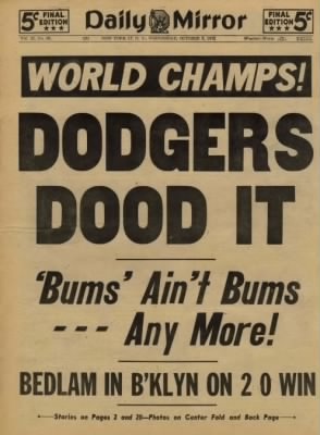 "1955 Brooklyn Dodgers ""The Boys Of Summer"""