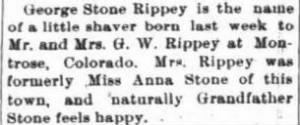 George Stone Rippey 1902 Birth Notice.JPG