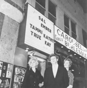 Jack Ruby in front of his night club
