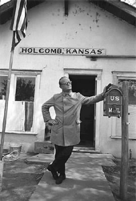 Truman Capote, Holcomb, Kansas, April,1967