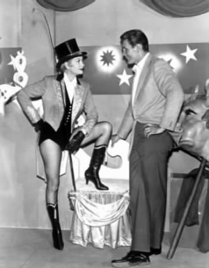 "Lucille Ball and Jack Palance in ""The Greatest Show on Earth,"" 1964"