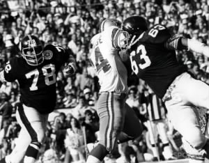 Dwight White, Ernie Holmes in Super Bowl X