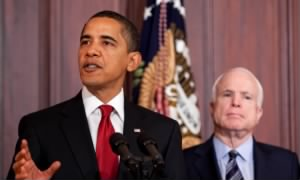 President Barack Obama and Senator John McCain, 2009
