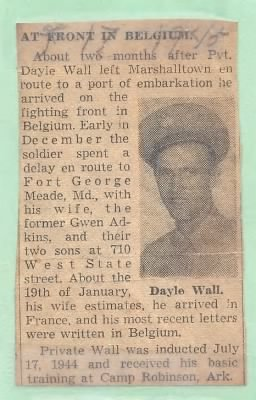 Newspaper clipping_Dayle in Belgium WWII.jpg