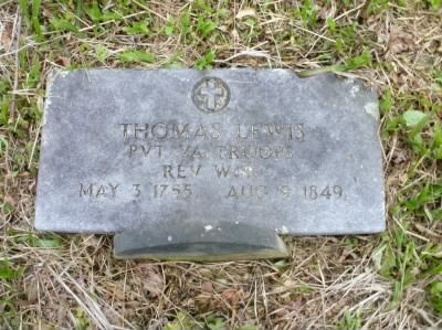 The Grave of Thomas Lewis - Fold3.com