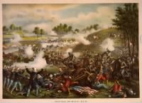 First Battle of Bull Run, chromolithograph by Kurz & Allison