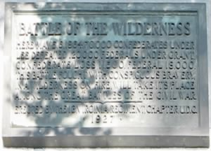 Tablet from the Battle of the Wilderness monument