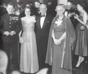 "Major General Lewis B ""Chesty"" Puller and General Holland M. ""Howlin' Mad"" Smith (Ret) and their wives at the Marine Corps Ball, 1953."