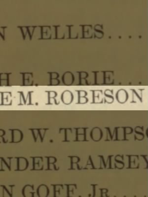Robeson, George M