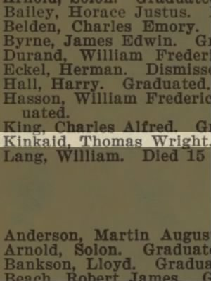 Kinkaid, Thomas Wright