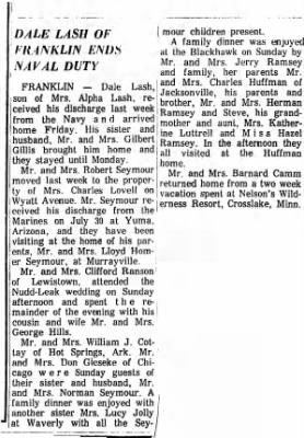 1965 Article of the end of enlistment