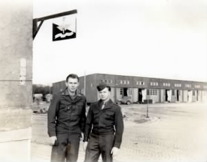 1945 Jack Novak on right in dress uniform in Germany.jpg