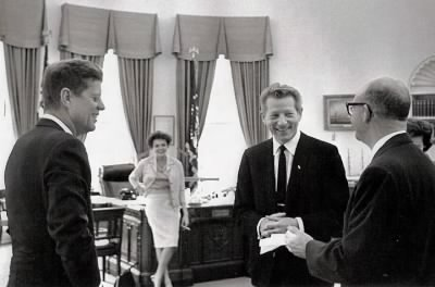 KennedyGarland Danny Kaye and presidential aide Dave Powers.jpg - Fold3.com