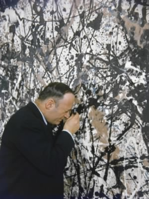James Rorimer examines Jackson Pollock painting.jpg