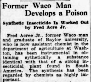 Fred Acree Jr 1934 Develops Insecticide.jpg