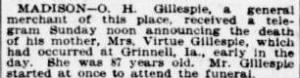 Ozro H Gillespie 1906 Notified of Mother's Death.jpg