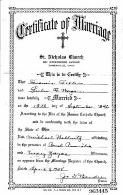 Frank Feller ~ Lulu Wogan Marriage Cert.jpg