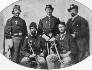 1st Lt James Wright with other officers of the First Battalion of Minnesota Infantry..jpg
