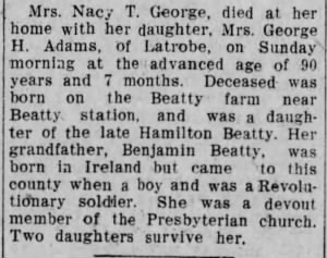 Nancy T Beatty George 1909 Death.jpg
