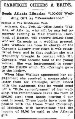 Anne Wallace 1908 Carnegie Wedding Gift.JPG