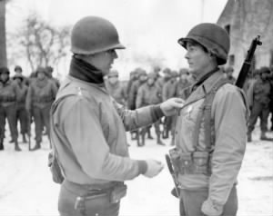General James Van Fleet pins a second Silver Star on Howard Pemberton.jpg