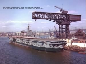 USS Franklin D. Roosevelt commissioning day Oct 27, 1945.jpg