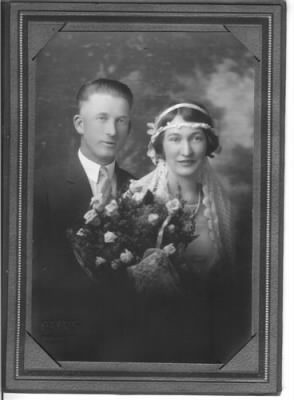 Al Hoegh-Marion Adams 1926 wedding