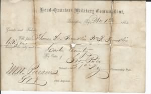 T.H.& Wm R. Franklin 1864 military pass.jpg