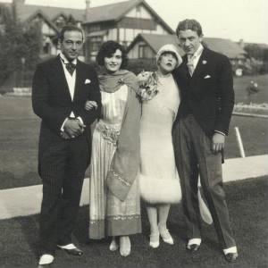 Rudolph Valentino and Pola Negri at the wedding of Mae Murray and Prince David Mdivani..jpg