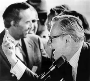 Vice-President Nelson Rockefeller Giving the Finger to Opponents of Vietnam War, Binghamton.jpg