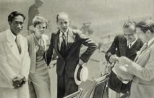 Duke Kahanamoku and. Douglas Fairbanks and Amelia earhart.jpg