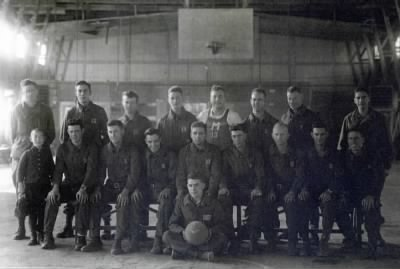 WWII - 97th Division - Basketball team 1945-1946 - 386th Infantry Regiment, Company M