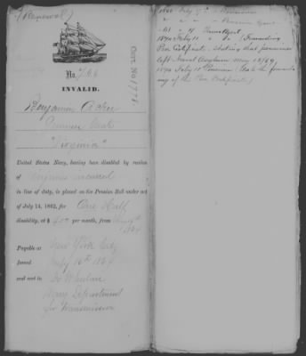 Pension Document for Benjamin Ackard