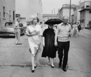 Marilyn Monroe & Paula Strasberg & Billy Wilder.jpg