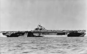 USS Essex CV-9 (1944) an Essex class aircraft carrier.jpg