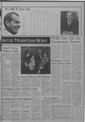1968-Nov-7 The Intermountain News, Page 1