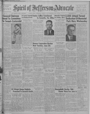1951-May-31 Spirit of Jefferson Farmer's Advocate, Page 1