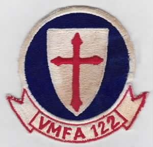 US Marine Corps Aviation Patch Fighter Attack VMFA Squadron 122 PI.jpg