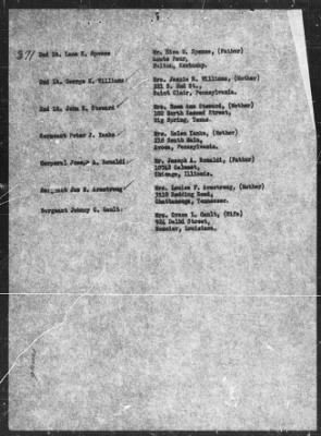 The Missing Air Crew Report Number 11590 lists the crew of the Martin Marauder Bomber, B26G-5-MA, with a crash time 1500 h. (3:00 P.M. European Time). Gunner, Pilot, Bombardier, Radio Operator, Photographer, and Co-Pilot.