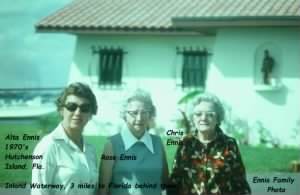 ENNIS, 1960's Alta, Rose and Chris, Florida.JPG