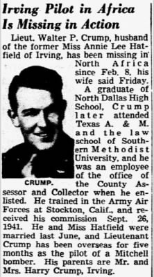 Crump, Walter P_Dallas Morning News_TX_Sat_06 March 1943_Pg I_12_Clip.JPG