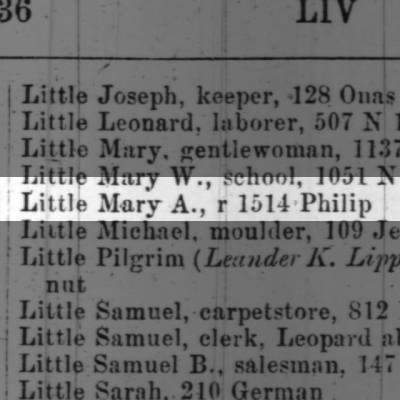 Little Mary A., r 1514 Philip