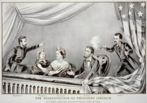 Sketch of Lincoln Assassination
